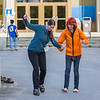 "Freshman Montana Troyer, left, gets a lesson in shoe skating during Orientation Week on the Fairbanks campus at the start of the fall 2015 semester.  <div class=""ss-paypal-button"">Filename: LIF-15-4638-036.jpg</div><div class=""ss-paypal-button-end""></div>"