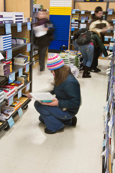 "Students scramble to get their books on the first day of class at the UAF bookstore.  <div class=""ss-paypal-button"">Filename: LIF-12-3260-78.jpg</div><div class=""ss-paypal-button-end"" style=""""></div>"