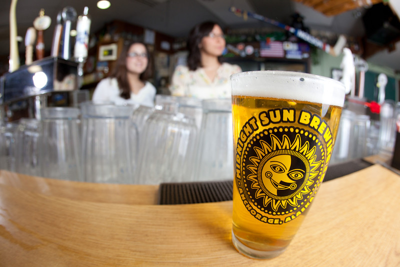 """The Pub in Wood Center offers a variety of beers, including several brewed in Alaska.  <div class=""""ss-paypal-button"""">Filename: LIF-11-3217-120.jpg</div><div class=""""ss-paypal-button-end"""" style=""""""""></div>"""