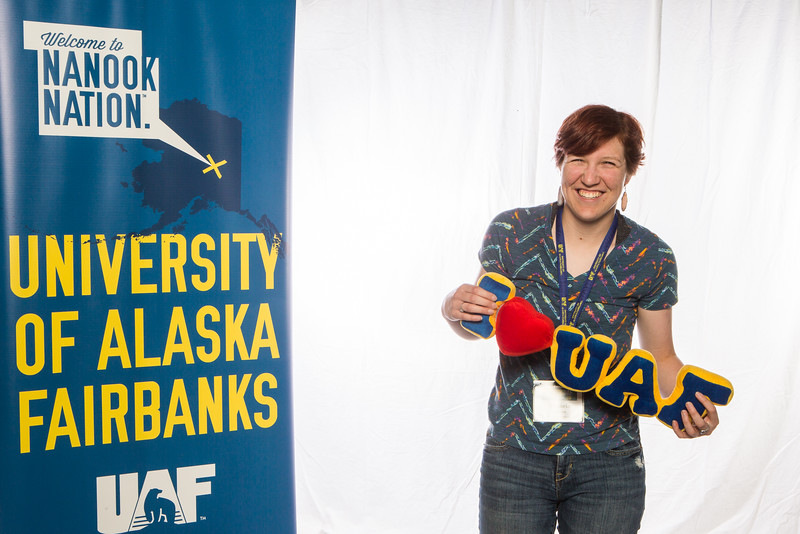 """Prospective students take a portrait during the summer 2016 Inside Out event hosted by the UAF's Office of Admissions and the Registrar.  <div class=""""ss-paypal-button"""">Filename: LIF-16-4926-1.jpg</div><div class=""""ss-paypal-button-end""""></div>"""