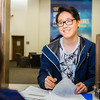"Biology student Jimin Kim fills out paperwork at the Office of the Bursar.  <div class=""ss-paypal-button"">Filename: LIF-16-4906-46-Edit.jpg</div><div class=""ss-paypal-button-end""></div>"