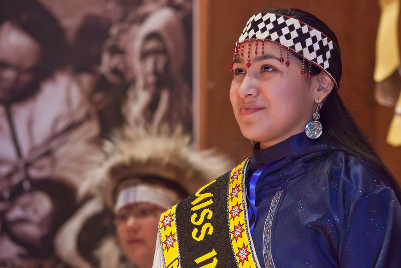 """Miss Indian World Marjorie Tahbone was the emcee on the opening night of the Festival of Native Arts.  <div class=""""ss-paypal-button"""">Filename: LIF-12-3310-17.jpg</div><div class=""""ss-paypal-button-end"""" style=""""""""></div>"""