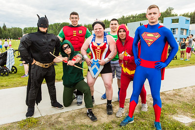 Participants in the 2016 Midnight Sun Run dress up in costume for the popular event near the summer solstice.  Filename: LIF-16-4918-31.jpg