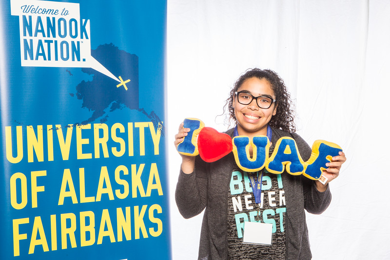 "Prospective students take a portrait during the summer 2016 Inside Out event hosted by the UAF's Office of Admissions and the Registrar.  <div class=""ss-paypal-button"">Filename: LIF-16-4926-11.jpg</div><div class=""ss-paypal-button-end""></div>"