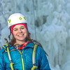 "Outdoor enthusiast Michelle Klaben gets ready to tackle the ice climbing wall which is part of UAF's Terrain Park on a snowy afternoon.  <div class=""ss-paypal-button"">Filename: LIF-13-3721-233.jpg</div><div class=""ss-paypal-button-end"" style=""""></div>"