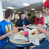 "Students Quinn Verfaillie, left, and Robert Doerning enjoy sandwiches in the Campus Cache, located in the Moore-Bartlett-Skarland residence hall complex on the Fairbanks campus.  <div class=""ss-paypal-button"">Filename: LIF-12-3339-30.jpg</div><div class=""ss-paypal-button-end"" style=""""></div>"