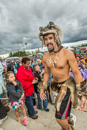 The costume contest is one of the popular attractions at the annual Midnight Sun Run, which starts on the UAF campus every year on the Saturday nearest the summer solstice.  Filename: LIF-14-4220-088.jpg