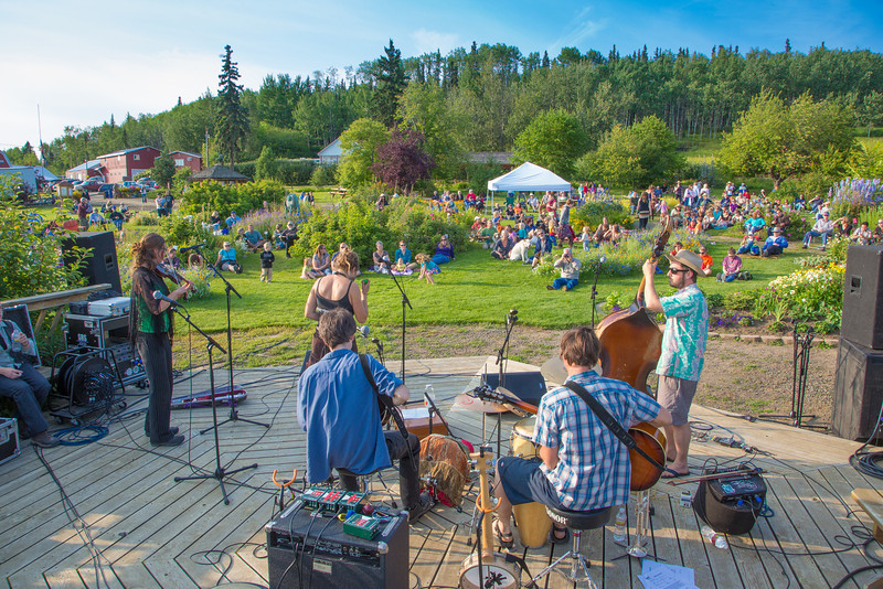 "The local Fairbanks band Zingaro Roots performed before an appreciative audience during one of the Concert in the Garden events sponsored by UAF Summer Sessions.  <div class=""ss-paypal-button"">Filename: LIF-12-3489-043.jpg</div><div class=""ss-paypal-button-end"" style=""""></div>"