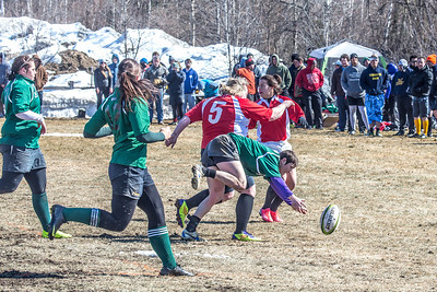 A women's rugby game was part of the attractions during SpringFest 2013.  Filename: LIF-13-3806-53.jpg