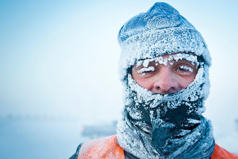 "Bob Vitale ran in the Chilly Buns Winter Run on campus when tempuratures reached -50 degrees fahrenheit.  <div class=""ss-paypal-button"">Filename: LIF-12-3266-50.jpg</div><div class=""ss-paypal-button-end"" style=""""></div>"