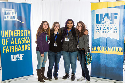 Future UAF students and family members pose during Inside Out.  Filename: LIF-16-4839-7.jpg
