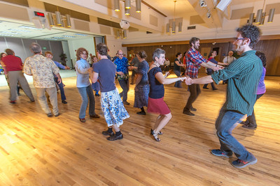 Members of the Fairbanks community joined UAF students and staff for a Contra Dance in the Wood Center Ballroom as part of the 2014 Winter Carnival on campus.  Filename: LIF-14-4085-35.jpg