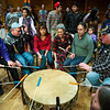 "The audience joins the dancers onstage during an open invitational dance during the 2014 Festival of Native Arts in the Charles Davis Concert Hall.  <div class=""ss-paypal-button"">Filename: LIF-14-4100-200.jpg</div><div class=""ss-paypal-button-end""></div>"