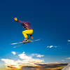 """Students enjoy some of the features of UAF's terrain park on a spring afternoon.  <div class=""""ss-paypal-button"""">Filename: LIF-13-3746-57.jpg</div><div class=""""ss-paypal-button-end"""" style=""""""""></div>"""
