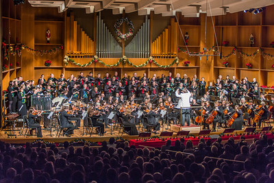Eduard Zilberkant conducts the Fairbanks Symphony Orchestra along with the Fairbanks Symphony Chorus during the annual holiday concert in the Davis Concert Hall.  Filename: LIF-13-4016-45.jpg