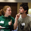 "Kate Wolstenholme, left, and Karl Weitz from the United Kingdom pose for a photo during the International Welcome Mixer Wednesday, July 29, 2012 at the UAF Great Hall, Fine Arts Complex.  <div class=""ss-paypal-button"">Filename: LIF-12-3524-22.jpg</div><div class=""ss-paypal-button-end"" style=""""></div>"