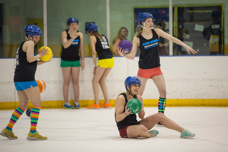 """The alternate tournament of ice dodgeball was played instead of the traditional mud volleyball during the 2013 Spring Fest activities.  <div class=""""ss-paypal-button"""">Filename: LIF-13-3803-36.jpg</div><div class=""""ss-paypal-button-end"""" style=""""""""></div>"""