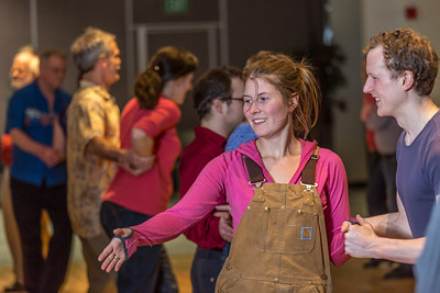 Members of the Fairbanks community joined UAF students and staff for a Contra Dance in the Wood Center Ballroom as part of the 2014 Winter Carnival on campus.  Filename: LIF-14-4085-46.jpg