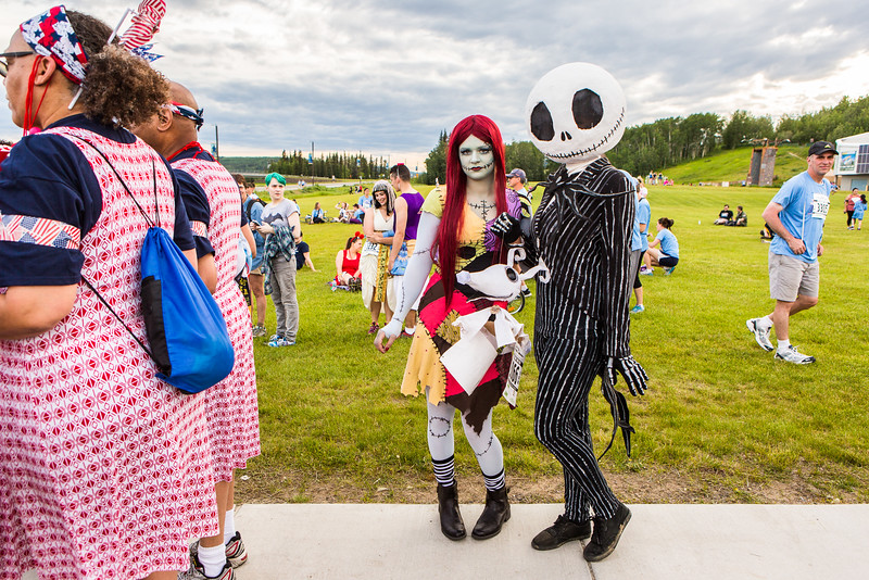 "Participants in the 2016 Midnight Sun Run dress up in costume for the popular event near the summer solstice.  <div class=""ss-paypal-button"">Filename: LIF-16-4918-19.jpg</div><div class=""ss-paypal-button-end""></div>"
