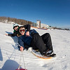 "Jimmy Donohue (back) and Bryan Johnson (front) go sledding on a sunny day in February.  <div class=""ss-paypal-button"">Filename: LIF-12-3289-41.jpg</div><div class=""ss-paypal-button-end"" style=""""></div>"