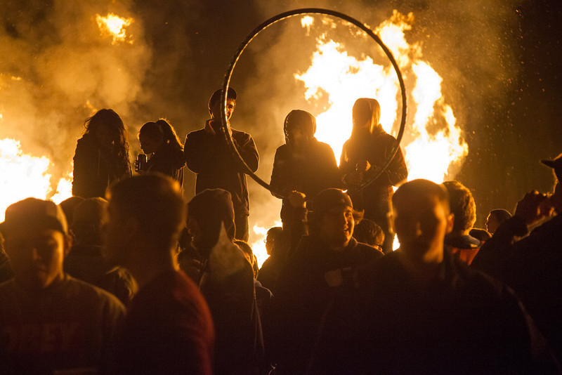 """Students enjoy the warmth and party atmosphere at the 2012 Starvation Gulch activites on the Fairbanks campus.  <div class=""""ss-paypal-button"""">Filename: LIF-12-3573-25.jpg</div><div class=""""ss-paypal-button-end"""" style=""""""""></div>"""