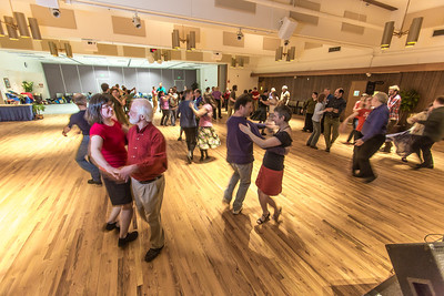 Members of the Fairbanks community joined UAF students and staff for a Contra Dance in the Wood Center Ballroom as part of the 2014 Winter Carnival on campus.  Filename: LIF-14-4085-88.jpg