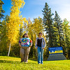 """Grace Amundsen, left, and Kaylie Wiltersen stroll through the grass near the west entrance to campus on a nice fall afternoon.  <div class=""""ss-paypal-button"""">Filename: LIF-12-3544-016.jpg</div><div class=""""ss-paypal-button-end"""" style=""""""""></div>"""