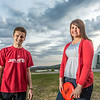"Friends Aaron Druyvestein and Serena McCormick enjoy a round of disc golf on the campus course near the University of Alaska Museum of the North.  <div class=""ss-paypal-button"">Filename: LIF-14-4191-70.jpg</div><div class=""ss-paypal-button-end"" style=""""></div>"