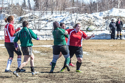A women's rugby game was part of the attractions during SpringFest 2013.  Filename: LIF-13-3806-52.jpg