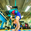 """Lindsey Dreese practices a move during a silk club meeting in the SRC. Dreese, a junior biology major, helped start the club which now features about 25 students and staff members who meet twice a week to learn new moves and increase strength and flexibility.  <div class=""""ss-paypal-button"""">Filename: LIF-13-4025-5.jpg</div><div class=""""ss-paypal-button-end""""></div>"""