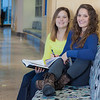 """Megan Gilmore (left) and Ashley Bartolowits (right) study in the hallway of the Syun-Ichi Akasofu building on campus.  <div class=""""ss-paypal-button"""">Filename: LIF-11-3242-161.jpg</div><div class=""""ss-paypal-button-end"""" style=""""""""></div>"""