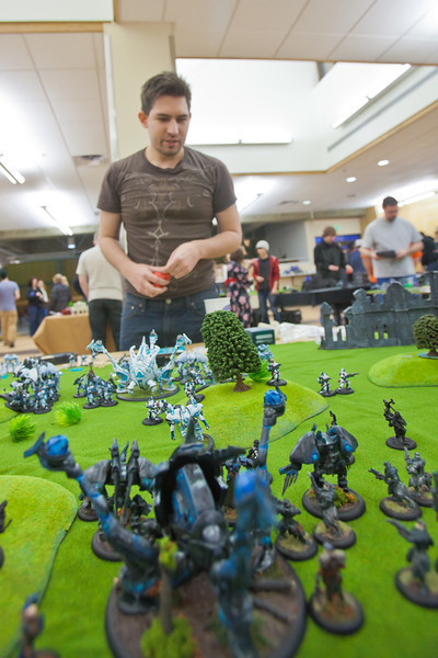 "Attendees of the PopCon weekend event in UAF's Wood Center participated in a Warmachine tournament.  <div class=""ss-paypal-button"">Filename: LIF-11-3218-075.jpg</div><div class=""ss-paypal-button-end"" style=""""></div>"
