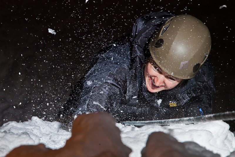 """Students try out the conditions during an open house on UAF's new outdoor ice climbing wall.  <div class=""""ss-paypal-button"""">Filename: LIF-12-3301-074.jpg</div><div class=""""ss-paypal-button-end"""" style=""""""""></div>"""