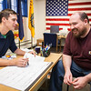 "UAF Veterans Advocate Phil Hokenson assists veteran Christopher J. Ennis on financial aid paperwork Oct. 2012 at the resource office located in the Eielson.  <div class=""ss-paypal-button"">Filename: LIF-12-3615-14.jpg</div><div class=""ss-paypal-button-end"" style=""""></div>"
