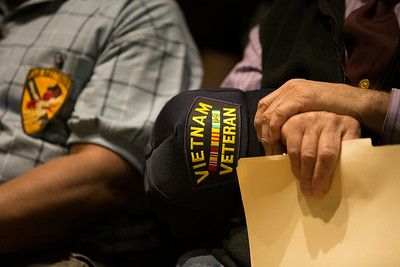 UAF Student Veterans sponsored the Honoring Veterans Ceremony at the Wood Center Ballroom.  Filename: LIF-14-4124-46.jpg