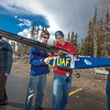 "Jeremy Langton, in blue, David Apperson, in red, and other engineering majors tinker with their model airplane before sending it aloft for a test flight over a parking lot on the Fairbanks campus.  <div class=""ss-paypal-button"">Filename: LIF-12-3366-034.jpg</div><div class=""ss-paypal-button-end"" style=""""></div>"