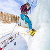 """Engineering major Mia Anderson enjoys a late season climb up the UAF ice wall on April 4.  <div class=""""ss-paypal-button"""">Filename: LIF-14-4132-92.jpg</div><div class=""""ss-paypal-button-end"""" style=""""""""></div>"""