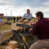 "Jamie Hollingsworth (center) times students Ethan Stephens (left) and  Joe Hunner (right) participated in the 2011 Farthest North Forest Sports Festival hosted by the UAF School of Natural Resources &amp; Agricultural Sciences.  <div class=""ss-paypal-button"">Filename: LIF-11-3185-90.jpg</div><div class=""ss-paypal-button-end"" style=""""></div>"