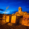 "One of the student-built structures waits to be torched before the annual Starvation Gulch bonfires.  <div class=""ss-paypal-button"">Filename: LIF-12-3571-007.jpg</div><div class=""ss-paypal-button-end"" style=""""></div>"