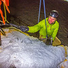"A climber rings the cowbell at the top of the tower during the ice climbing competition, offered as part of the 2014 UAF Winter Carnival.  <div class=""ss-paypal-button"">Filename: LIF-14-4084-111.jpg</div><div class=""ss-paypal-button-end"" style=""""></div>"