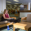 "Music education major Anna Polum finds a comfortable spot to study in the Rasmuson Library.  <div class=""ss-paypal-button"">Filename: LIF-13-3950-69.jpg</div><div class=""ss-paypal-button-end"" style=""""></div>"