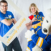"Admissions counselors John Smelter and Caitlin Kaber strike a pose with the Nook during UAF's InsideOut event in the Wood Center ballroom.  <div class=""ss-paypal-button"">Filename: LIF-14-4117-3.jpg</div><div class=""ss-paypal-button-end""></div>"