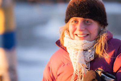 Lacey Brewster is all bundled up on a cold November afternoon on campus.  Filename: LIF-12-3667-13.jpg