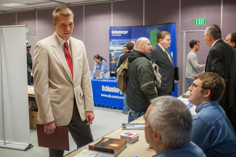 "Caleb Smith speaks to potential summer internship opportunities at the at the Student Job and Internship Fair provided by UAF Career Services.  <div class=""ss-paypal-button"">Filename: LIF-13-3745-7.jpg</div><div class=""ss-paypal-button-end"" style=""""></div>"
