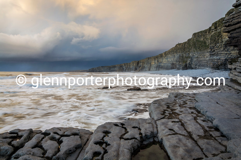 Cliff watcher, taken on a January evening at Nash Point, Marcros