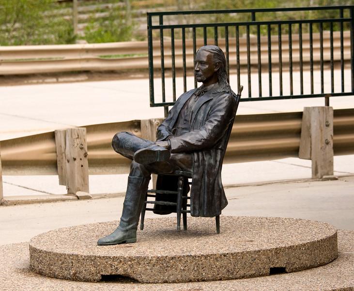 Wil Bill Hickock statue - Deadwood