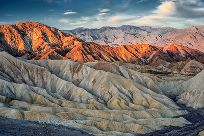 Sunrise at Zabriskie Point in Death Valley National Park