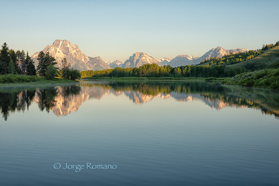 Evening view from Oxbow Bend