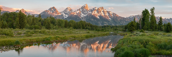 Grand Teton mountains and the Snake River
