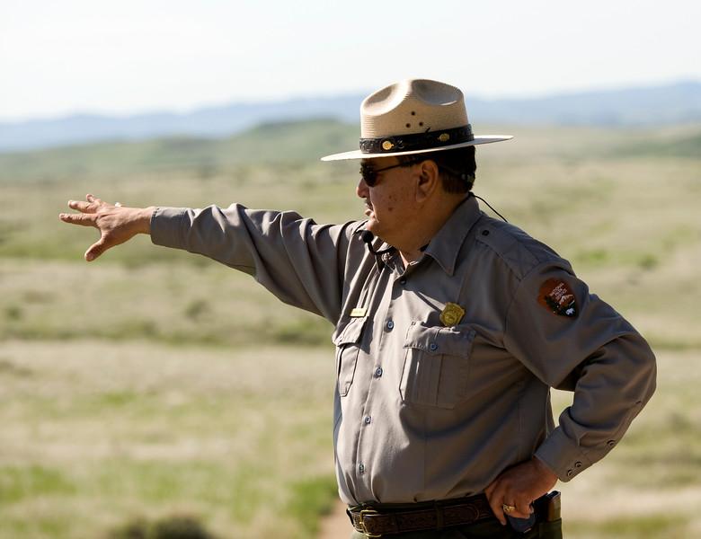 Park Ranger (Native American) describing the battle
